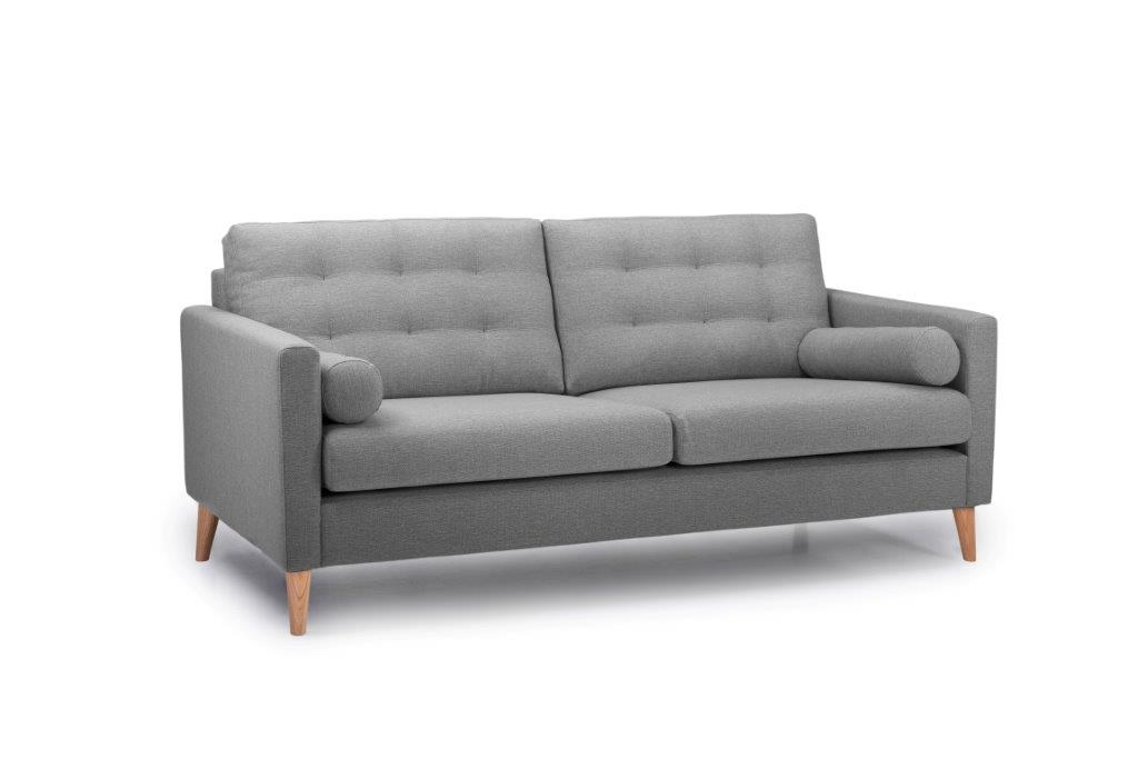 OSCAR 3 seater (REDA 3 grey) side softnord soft nord scandinavian style furniture modern interior design sofa bed chair pouf upholstery
