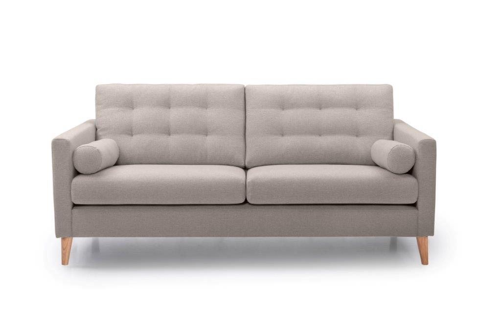 OSCAR 3 seater (REDA 4 Sand) front softnord soft nord scandinavian style furniture modern interior design sofa bed chair pouf upholstery