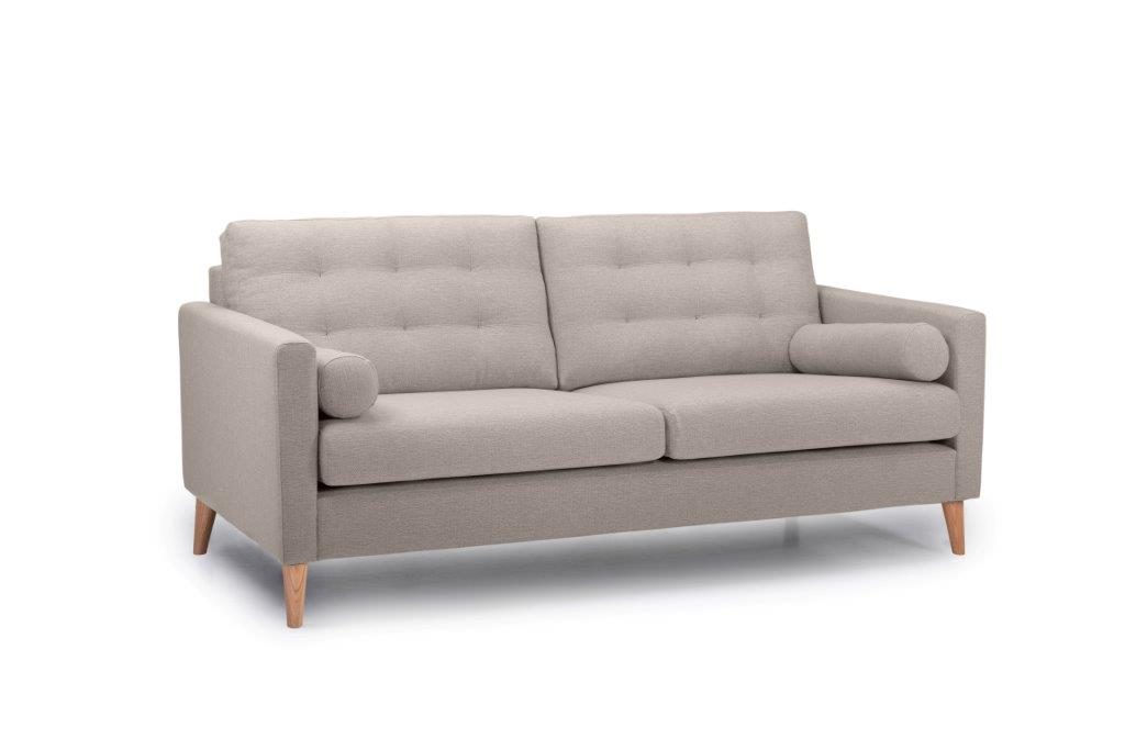 OSCAR 3 seater (REDA 4 Sand) side softnord soft nord scandinavian style furniture modern interior design sofa bed chair pouf upholstery