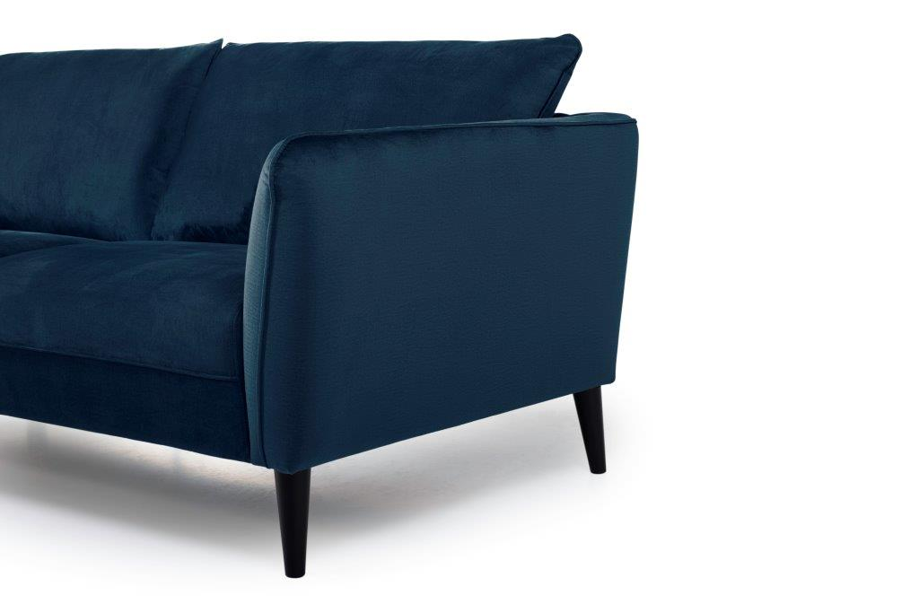 RETRO 3 seater (MONOLITH 16 blue) arm+leg softnord soft nord scandinavian style furniture modern interior design sofa bed chair pouf upholstery