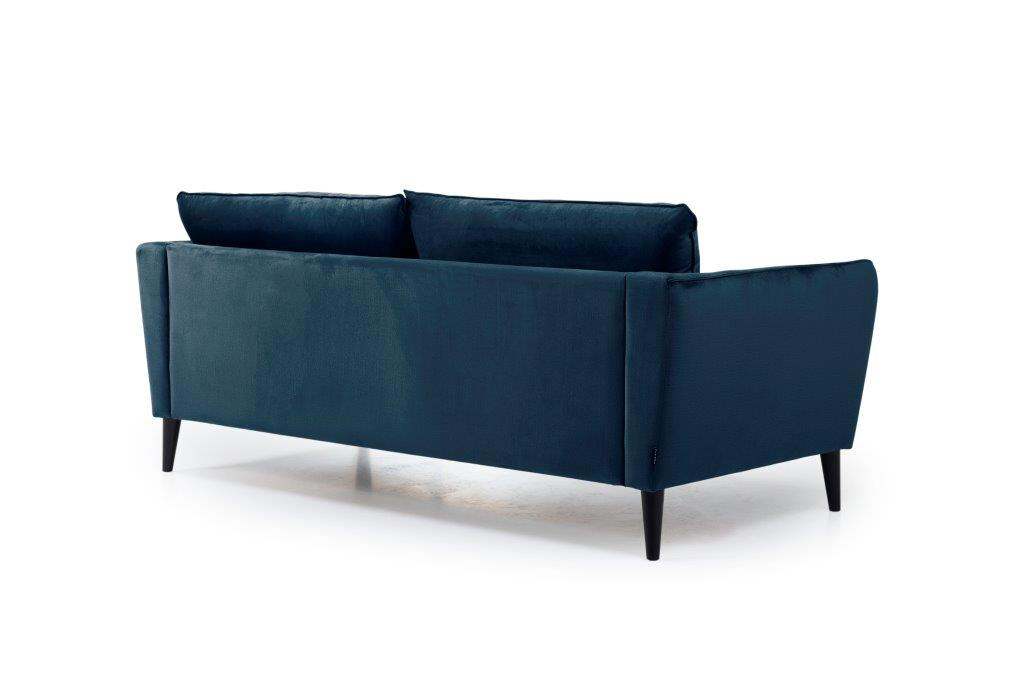 RETRO 3 seater (MONOLITH 16 blue) back softnord soft nord scandinavian style furniture modern interior design sofa bed chair pouf upholstery
