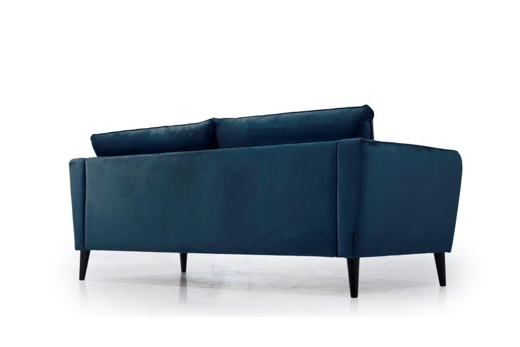 RETRO 3 seater (MONOLITH 16 blue) low back softnord soft nord scandinavian style furniture modern interior design sofa bed chair pouf upholstery
