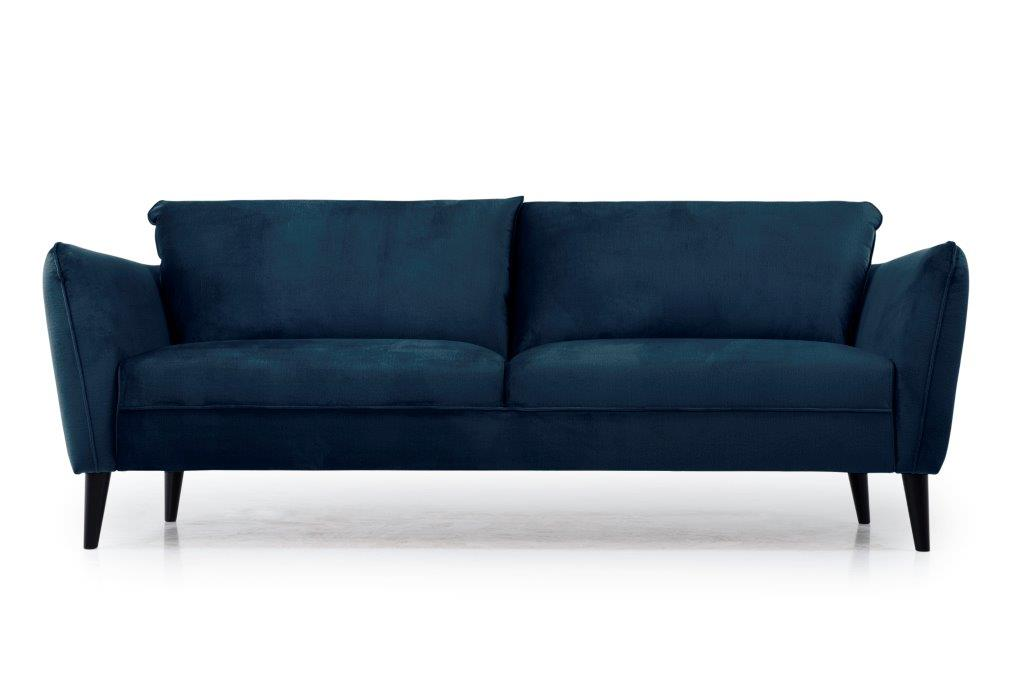 RETRO 3 seater (MONOLITH 16 blue) low front softnord soft nord scandinavian style furniture modern interior design sofa bed chair pouf upholstery