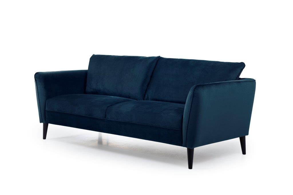 RETRO 3 seater (MONOLITH 16 blue) side softnord soft nord scandinavian style furniture modern interior design sofa bed chair pouf upholstery