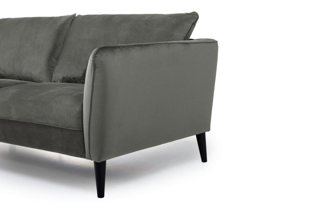 RETRO 3 seater (MONOLITH 3 grey) arm+leg softnord soft nord scandinavian style furniture modern interior design sofa bed chair pouf upholstery