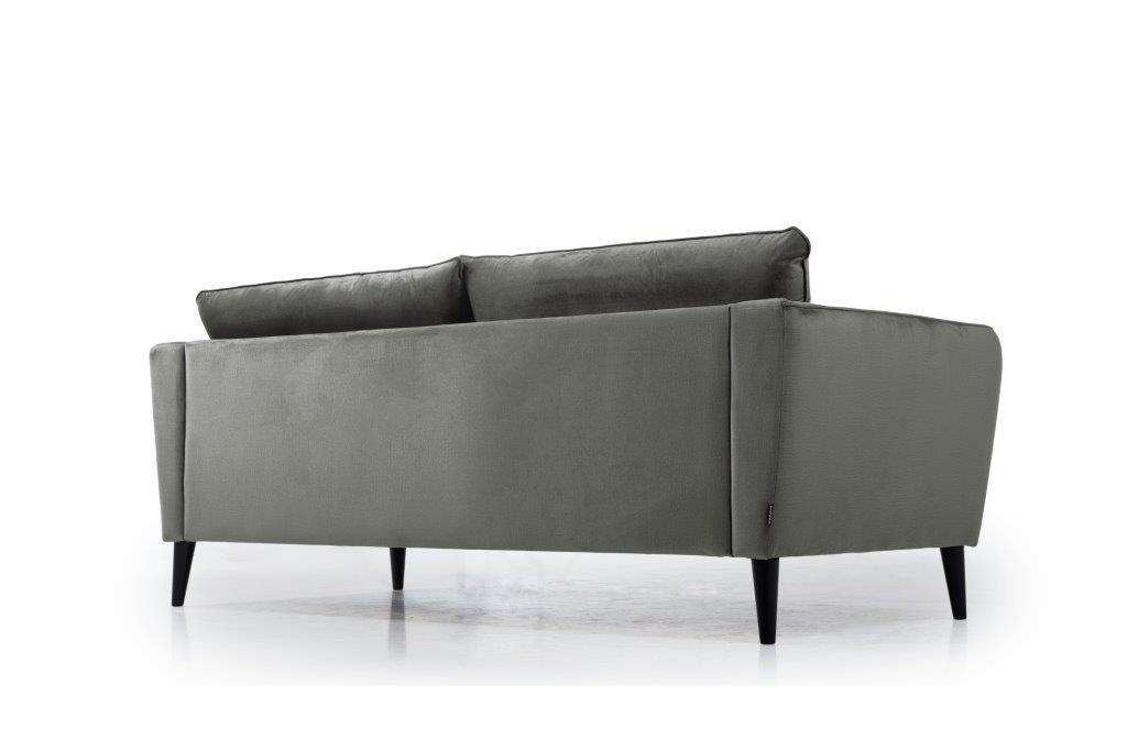 RETRO 3 seater (MONOLITH 3 grey) low back softnord soft nord scandinavian style furniture modern interior design sofa bed chair pouf upholstery