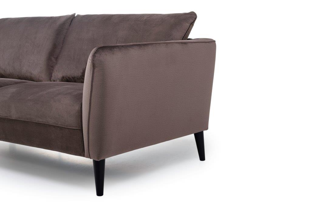 RETRO 3 seater (MONOLITH 5 brown) arm+leg softnord soft nord scandinavian style furniture modern interior design sofa bed chair pouf upholstery