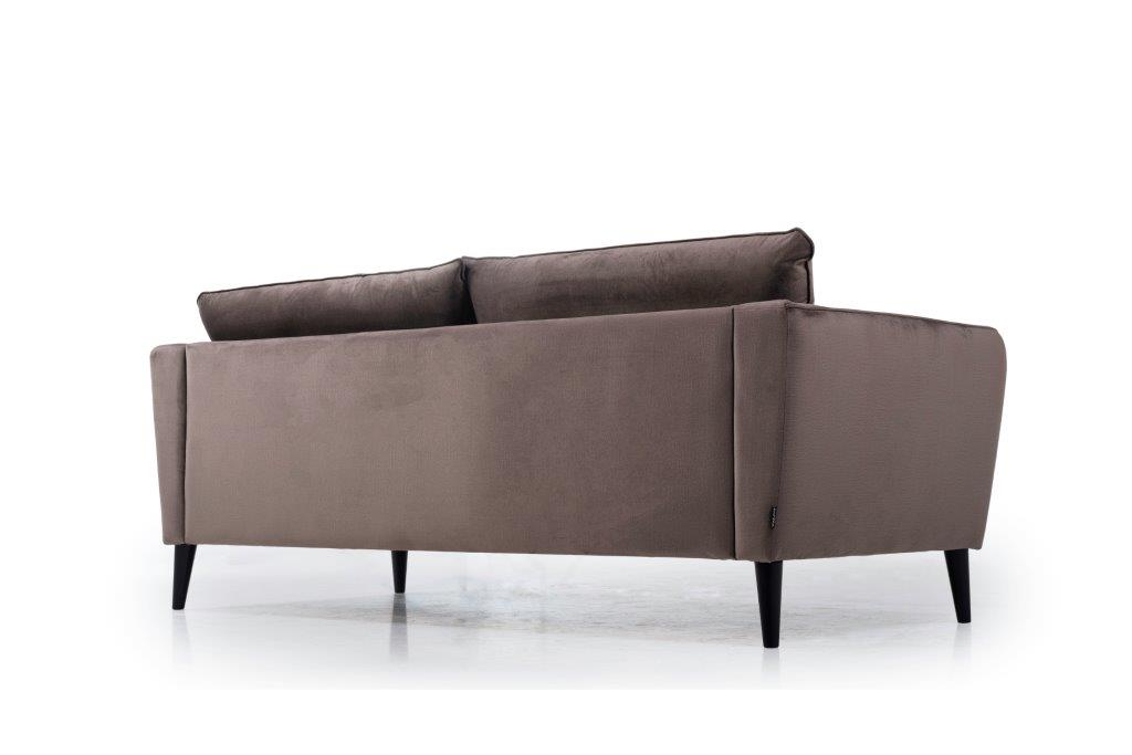 RETRO 3 seater (MONOLITH 5 brown) low back softnord soft nord scandinavian style furniture modern interior design sofa bed chair pouf upholstery