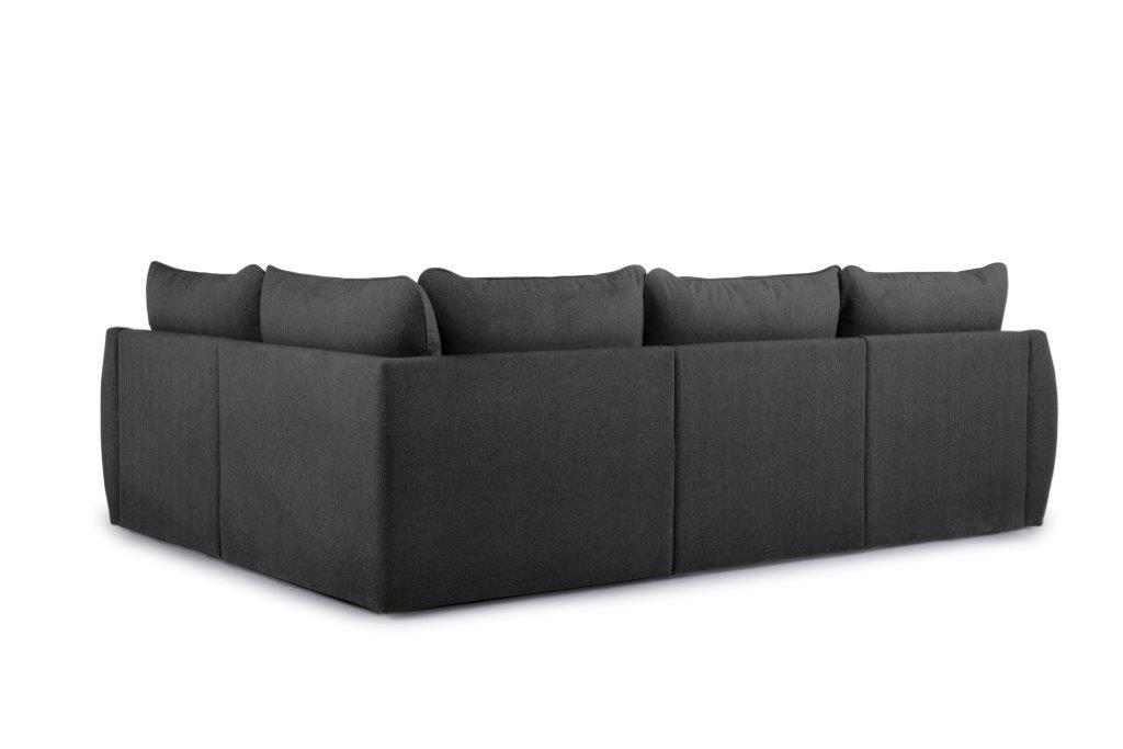 SCHERMAN 1+90+2 (VERONA 7 antrazite) back softnord soft nord scandinavian style furniture modern interior design sofa bed chair pouf upholstery