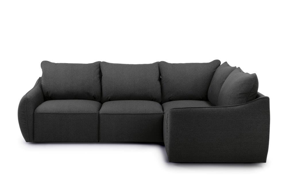 SCHERMAN 1+90+2 (VERONA 7 antrazite) front softnord soft nord scandinavian style furniture modern interior design sofa bed chair pouf upholstery