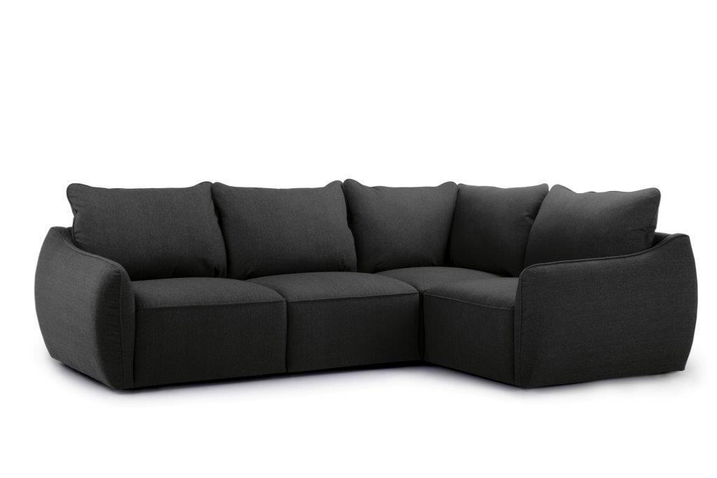 SCHERMAN 1+90+2 (VERONA 7 antrazite) side softnord soft nord scandinavian style furniture modern interior design sofa bed chair pouf upholstery