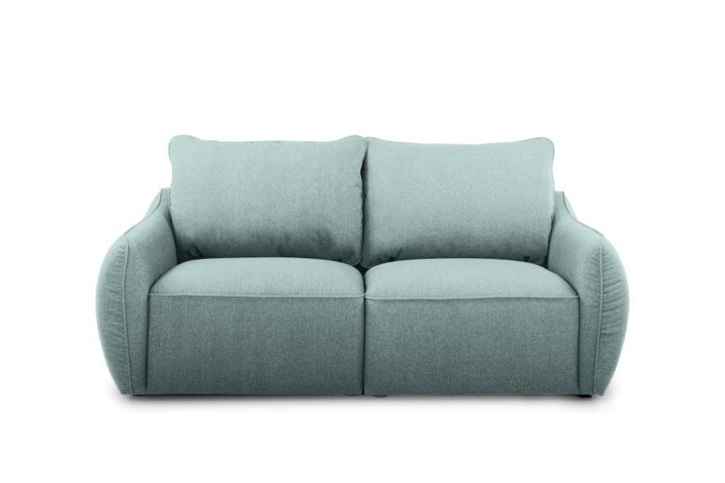 SCHERMAN 2 seater (VERONA 29 sapphire) front softnord soft nord scandinavian style furniture modern interior design sofa bed chair pouf upholstery