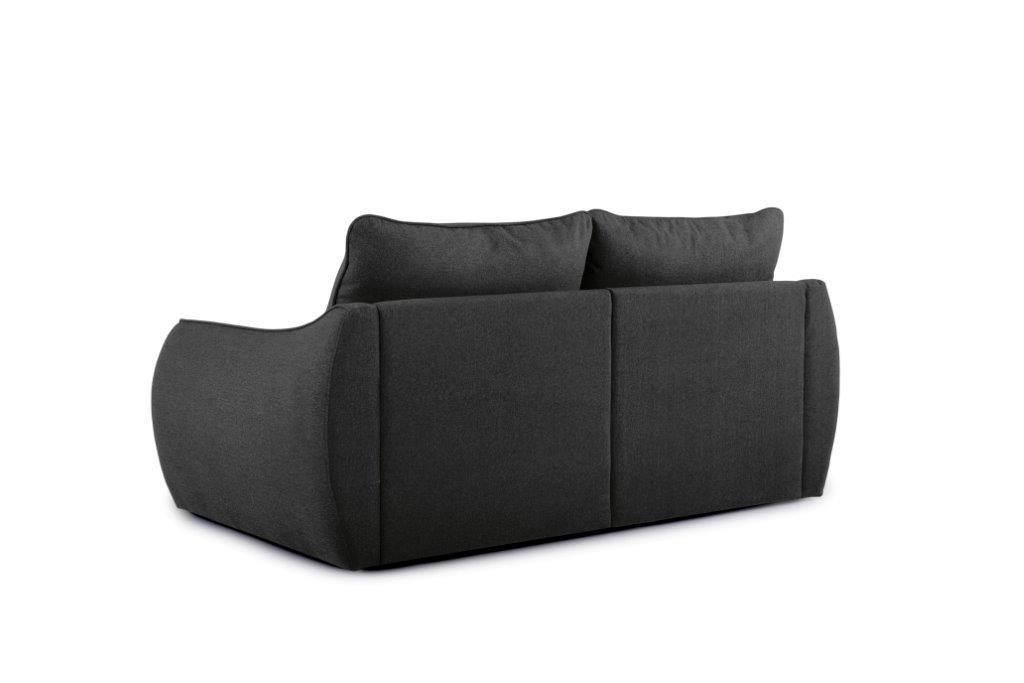 SCHERMAN 2 seater (VERONA 7 antrazite) back softnord soft nord scandinavian style furniture modern interior design sofa bed chair pouf upholstery