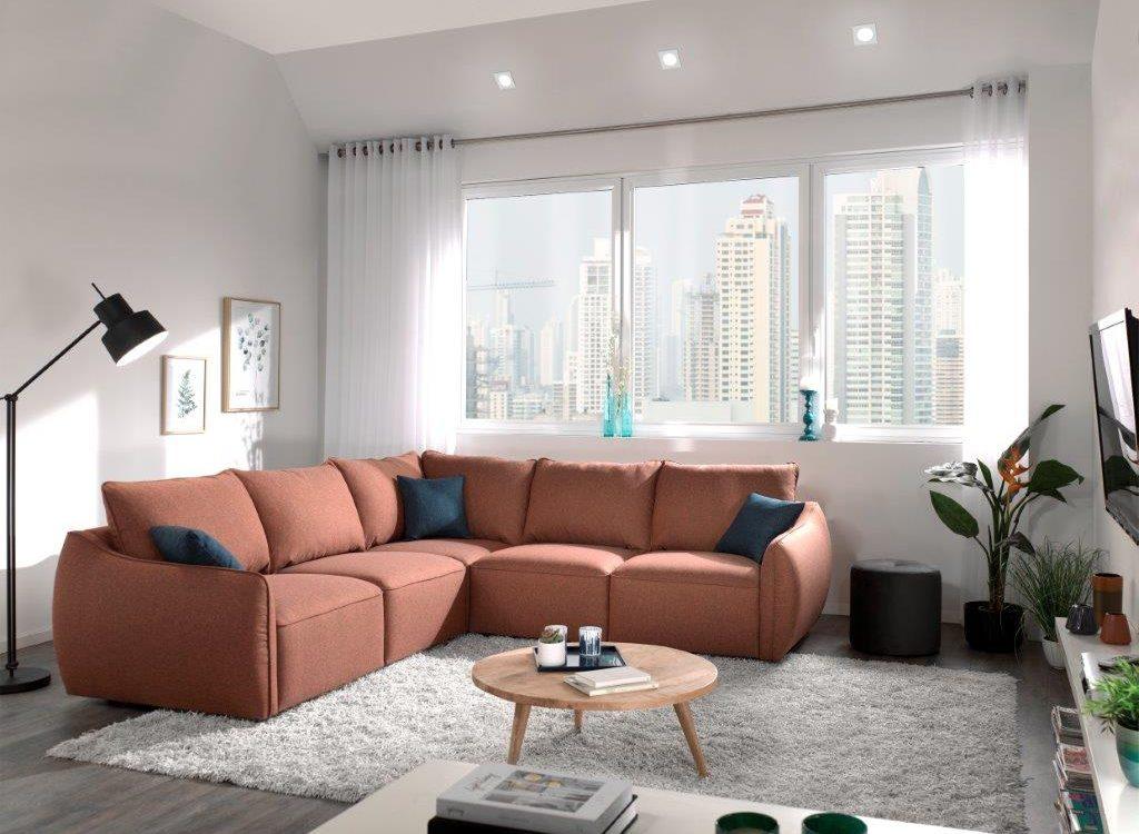 SCHERMAN 2+90+2 (ROSITA 20-2 dark orange) high rez softnord soft nord scandinavian style furniture modern interior design sofa bed chair pouf upholstery