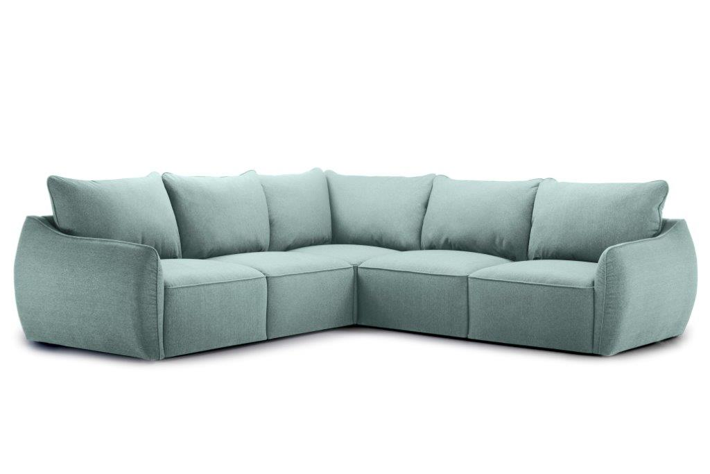 SCHERMAN 2+90+2 (VERONA 29 sapphire) side softnord soft nord scandinavian style furniture modern interior design sofa bed chair pouf upholstery