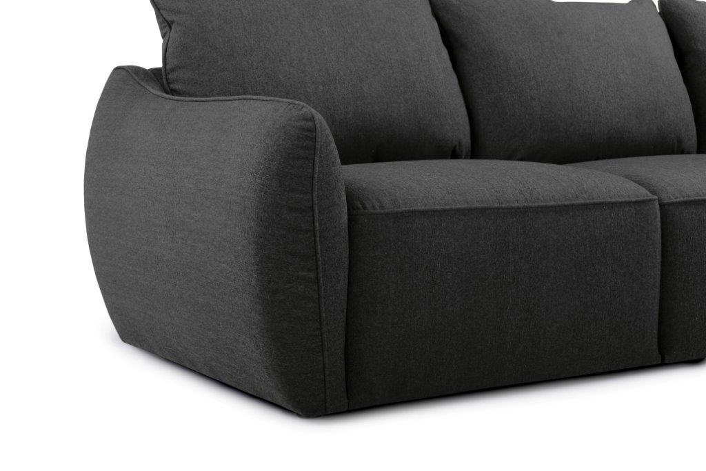 SCHERMAN 2+90+2 (VERONA 7 antrazite) arm+leg softnord soft nord scandinavian style furniture modern interior design sofa bed chair pouf upholstery
