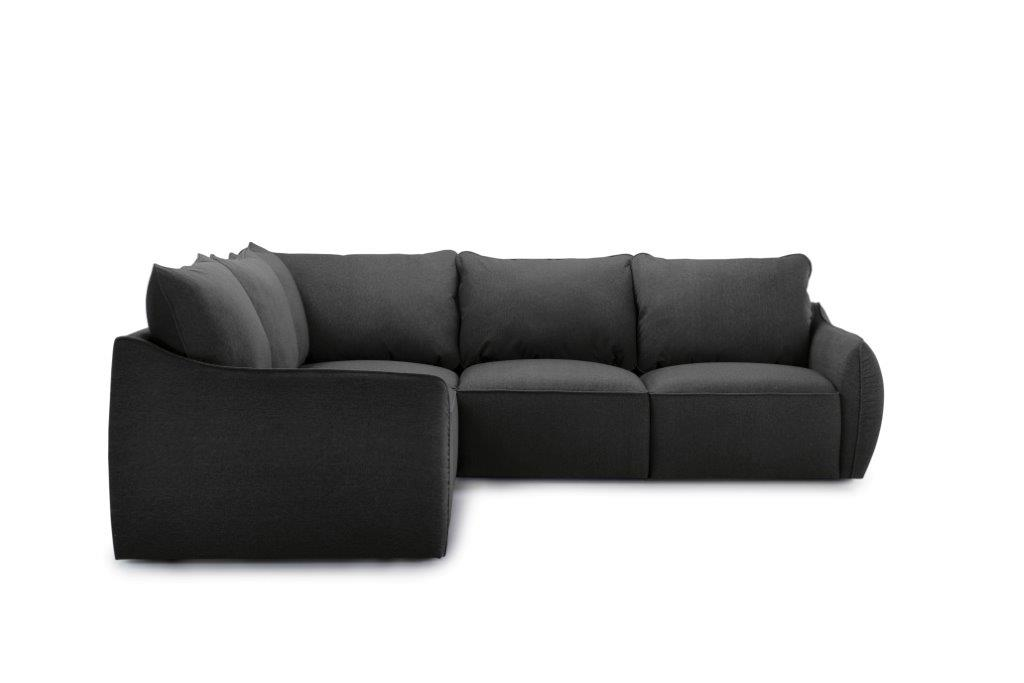 SCHERMAN 2+90+2 (VERONA 7 antrazite) front softnord soft nord scandinavian style furniture modern interior design sofa bed chair pouf upholstery
