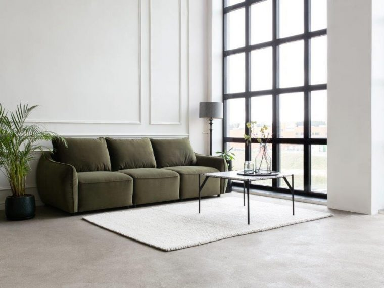 SCHERMAN 3 seater (TRENTO 13 khaki) interior-softnord soft nord scandinavian style furniture modern interior design sofa bed chair pouf upholstery