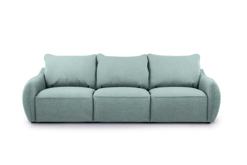 SCHERMAN 3 seater (VERONA 29 sapphire) front softnord soft nord scandinavian style furniture modern interior design sofa bed chair pouf upholstery