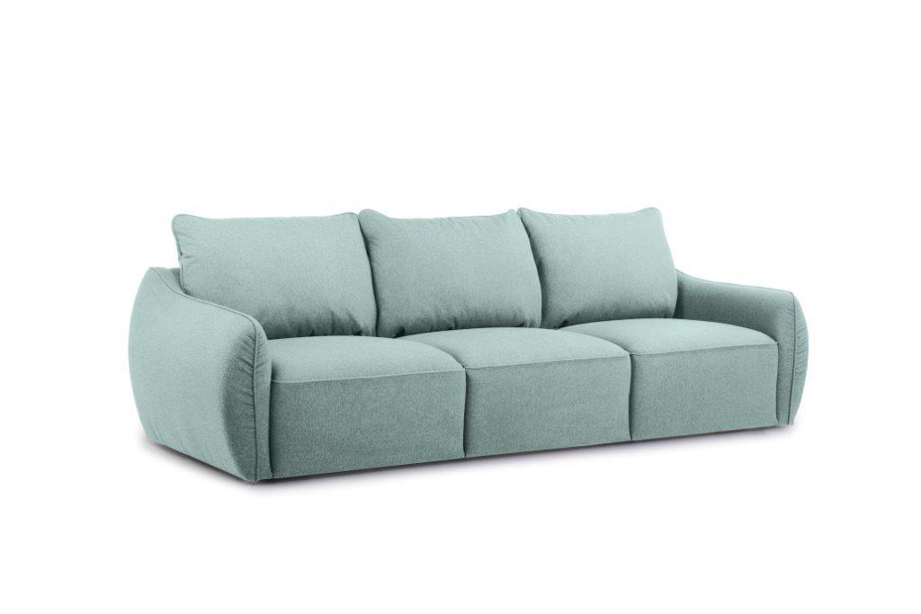 SCHERMAN 3 seater (VERONA 29 sapphire) side softnord soft nord scandinavian style furniture modern interior design sofa bed chair pouf upholstery