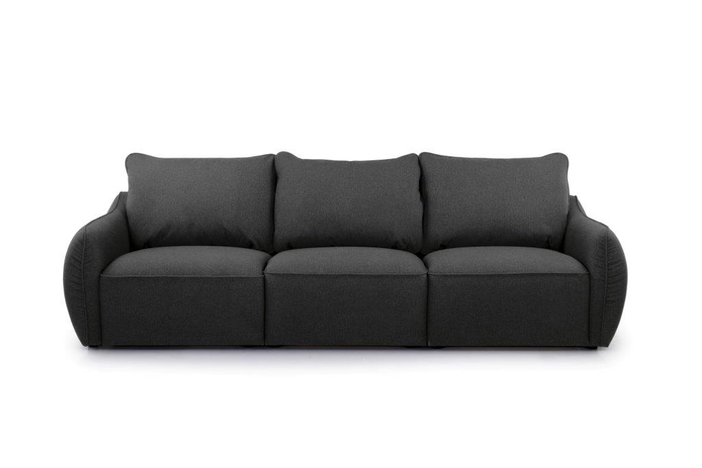 SCHERMAN 3 seater (VERONA 7 antrazite) front softnord soft nord scandinavian style furniture modern interior design sofa bed chair pouf upholstery