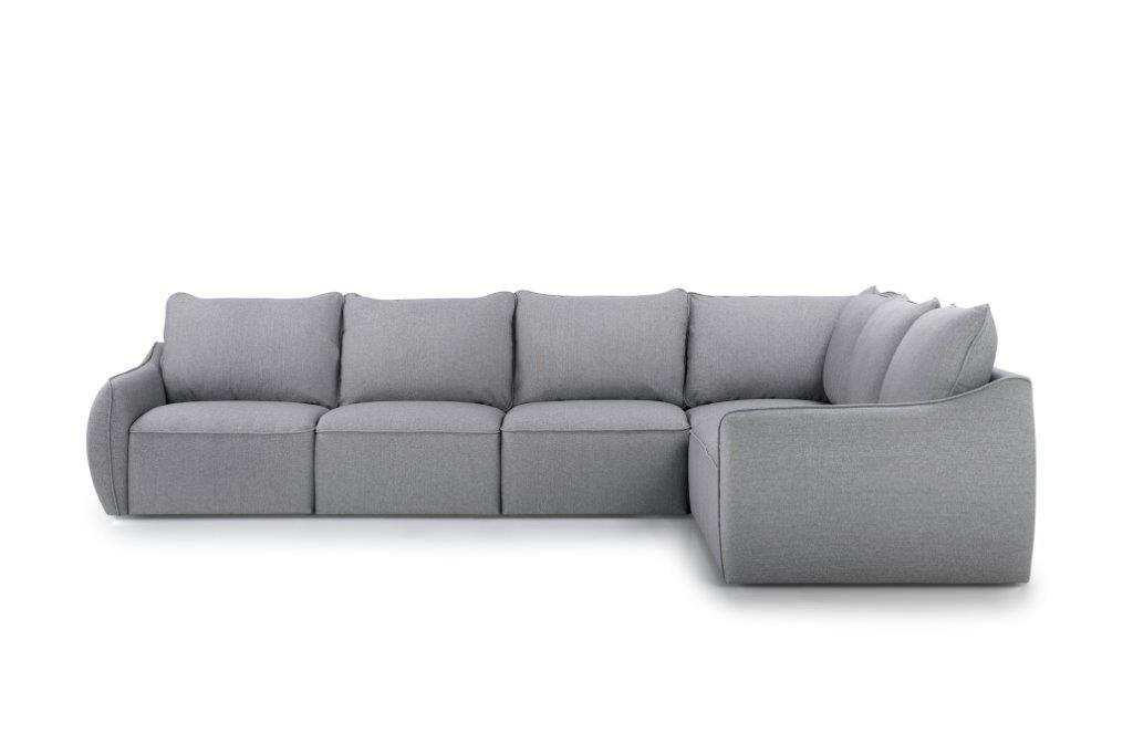 SCHERMAN 3+90+2 (FAME 3.1 light grey) front softnord soft nord scandinavian style furniture modern interior design sofa bed chair pouf upholstery