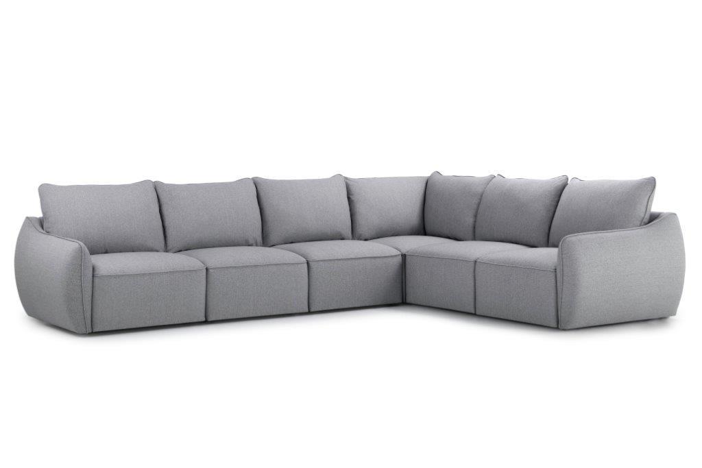 SCHERMAN 3+90+2 (FAME 3.1 light grey) side softnord soft nord scandinavian style furniture modern interior design sofa bed chair pouf upholstery