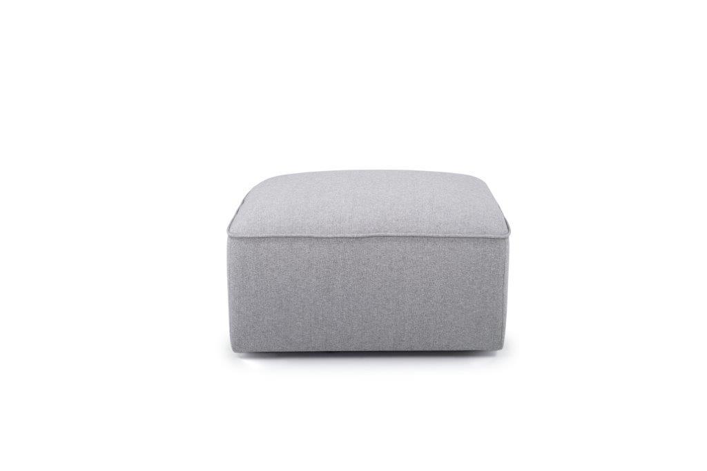 SCHERMAN pouf (FAME 3.1 light grey) front softnord soft nord scandinavian style furniture modern interior design sofa bed chair pouf upholstery