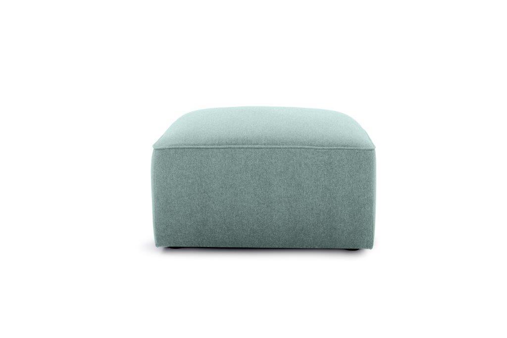 SCHERMAN pouf (VERONA 29 sapphire) front softnord soft nord scandinavian style furniture modern interior design sofa bed chair pouf upholstery