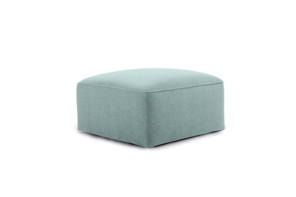 SCHERMAN pouf (VERONA 29 sapphire) side softnord soft nord scandinavian style furniture modern interior design sofa bed chair pouf upholstery