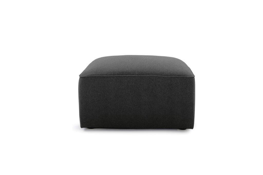 SCHERMAN pouf (VERONA 7 antrazite) front softnord soft nord scandinavian style furniture modern interior design sofa bed chair pouf upholstery