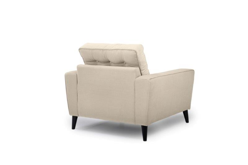 TIVOLI 1 seater with buttons (COZY BASIC 278 krem) back softnord soft nord scandinavian style furniture modern interior design sofa bed chair pouf upholstery