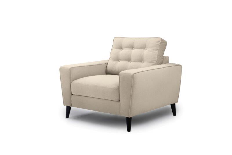 TIVOLI 1 seater with buttons (COZY BASIC 278 krem) side softnord soft nord scandinavian style furniture modern interior design sofa bed chair pouf upholstery