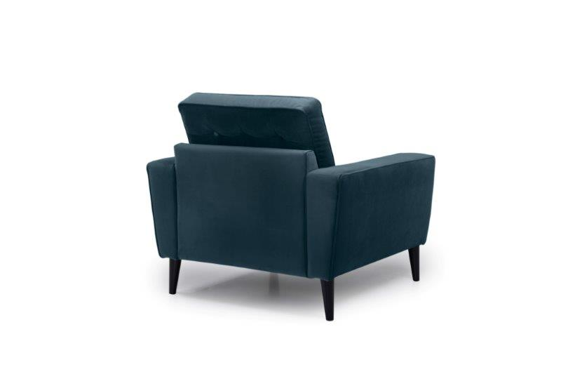 TIVOLI 1 seater with buttons (TRENTO 16 blue) back softnord soft nord scandinavian style furniture modern interior design sofa bed chair pouf upholstery