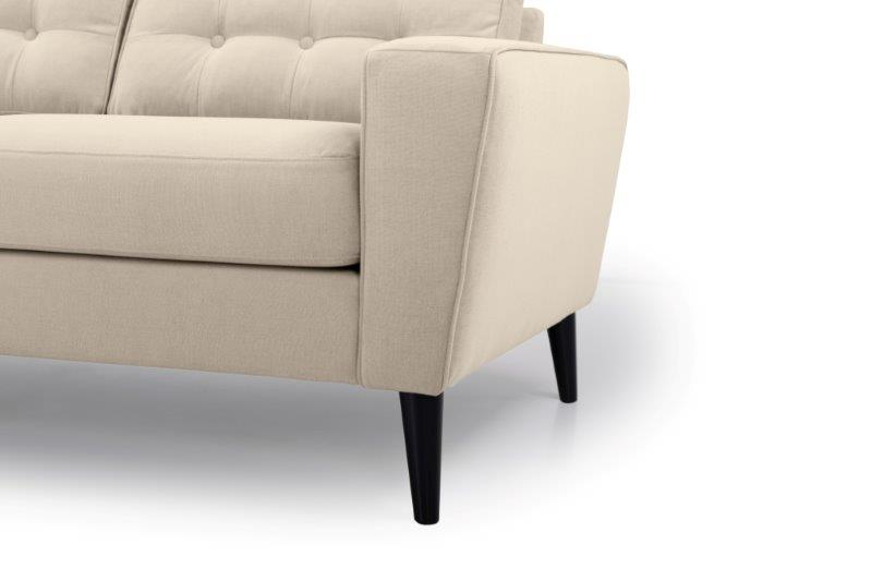 TIVOLI 2 seater with buttons (COZY BASIC 278 krem) arm+leg softnord soft nord scandinavian style furniture modern interior design sofa bed chair pouf upholstery