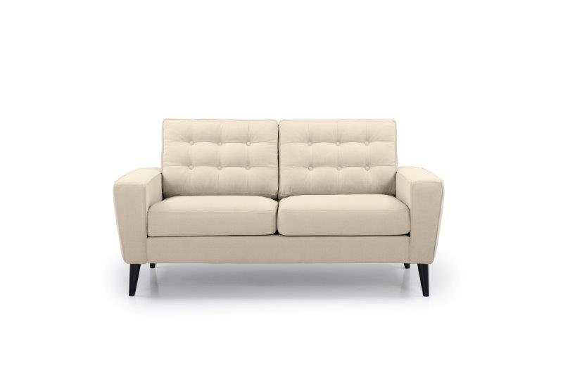 TIVOLI 2 seater with buttons (COZY BASIC 278 krem) front softnord soft nord scandinavian style furniture modern interior design sofa bed chair pouf upholstery