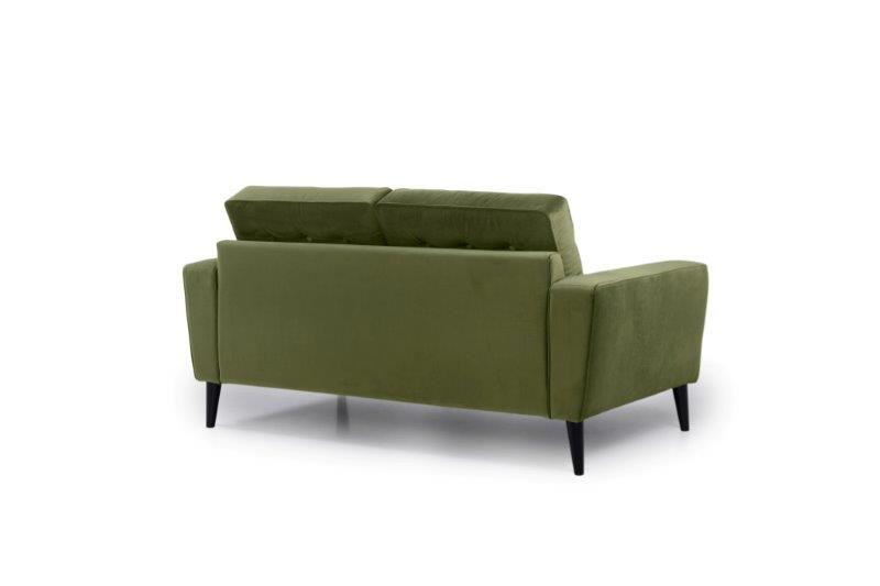 TIVOLI 2 seater with buttons (TRENTO 13 khaki) back softnord soft nord scandinavian style furniture modern interior design sofa bed chair pouf upholstery