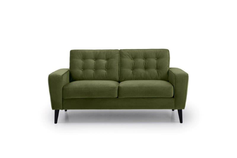 TIVOLI 2 seater with buttons (TRENTO 13 khaki) front softnord soft nord scandinavian style furniture modern interior design sofa bed chair pouf upholstery