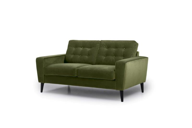 TIVOLI 2 seater with buttons (TRENTO 13 khaki) side softnord soft nord scandinavian style furniture modern interior design sofa bed chair pouf upholstery
