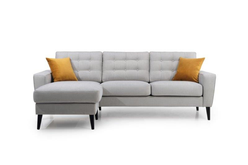 TIVOLI chaiselongue (OCEAN 22 silver) front softnord soft nord scandinavian style furniture modern interior design sofa bed chair pouf upholstery