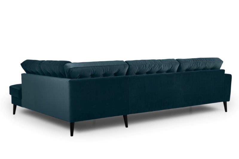 TIVOLI open corner with 3 seater with buttons (TRENTO 16 blue) back softnord soft nord scandinavian style furniture modern interior design sofa bed chair pouf upholstery