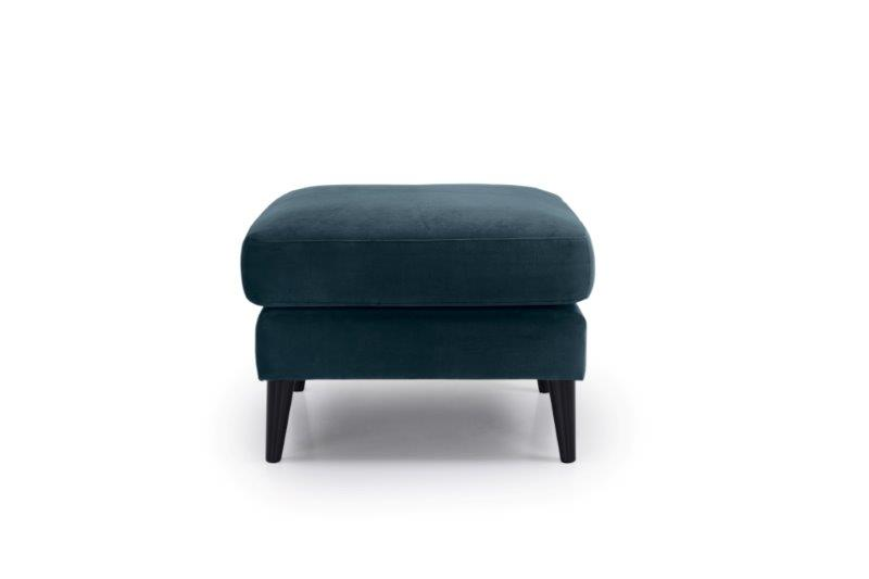 TIVOLI pouf (TRENTO 16 blue) front softnord soft nord scandinavian style furniture modern interior design sofa bed chair pouf upholstery