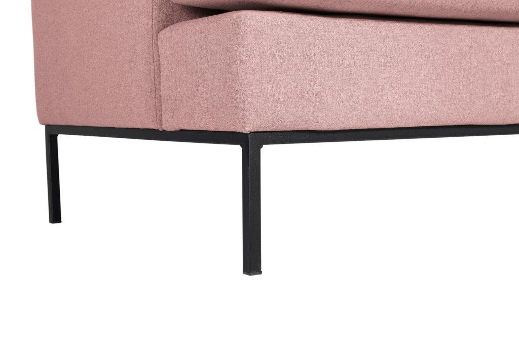TOWN 3 seater (VERONA 11 pink) leg softnord soft nord scandinavian style furniture modern interior design sofa bed chair pouf upholstery