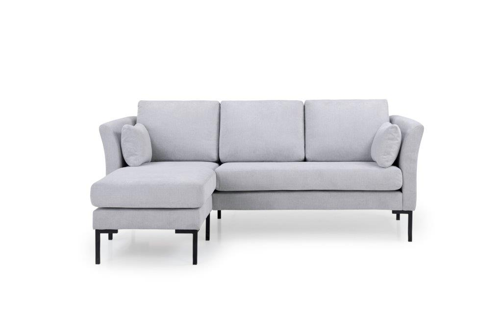 BOOGIE chaiselongue with 2 seater (ORINOCO 22 silver) front
