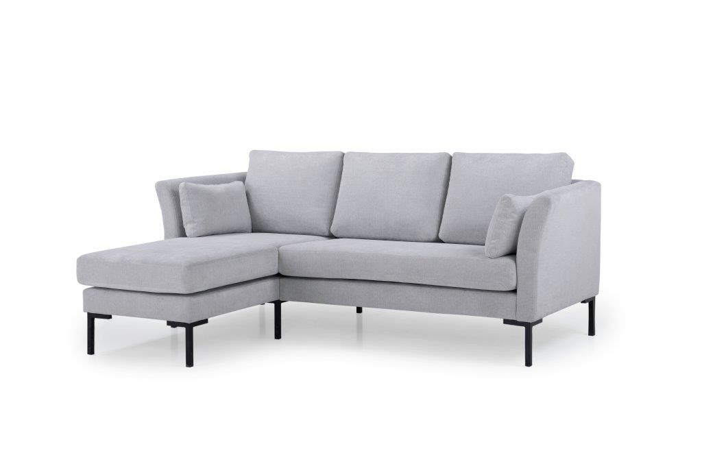 BOOGIE chaiselongue with 2 seater (ORINOCO 22 silver) side