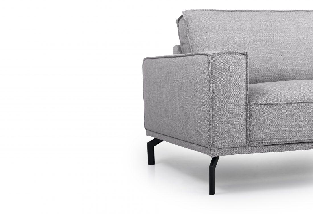 EDDY 3 seater (MEGA 3 grey) arm+leg