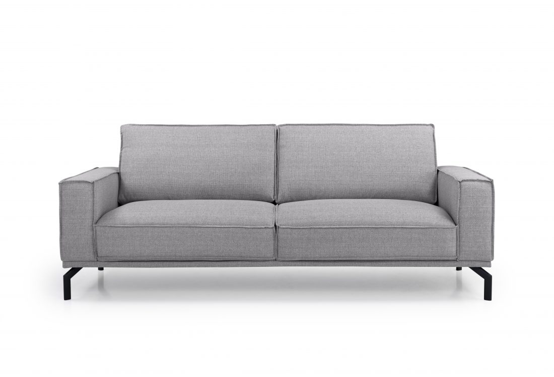 EDDY 3 seater (MEGA 3 grey) front