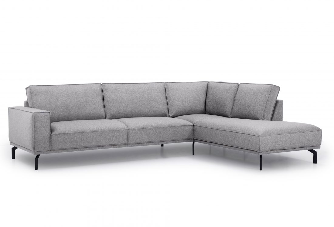 EDDY open corner with 3 seater (MEGA 3 grey) side