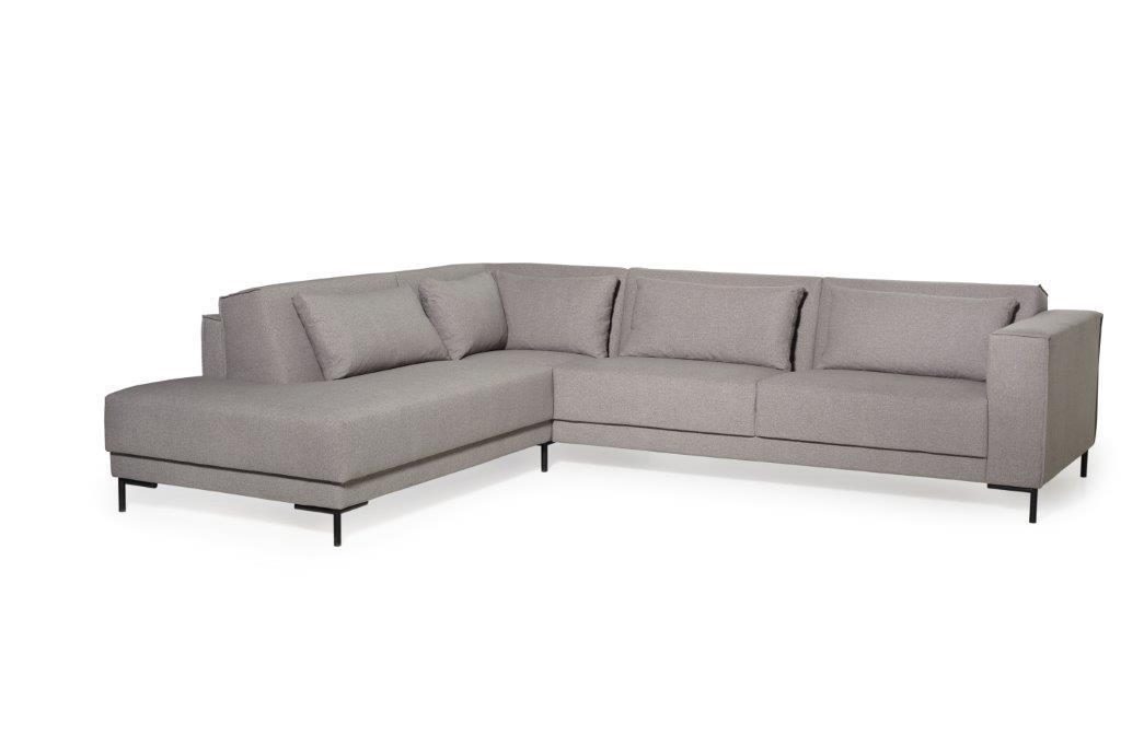 FINN open corner (VERONA 3 grey) softnord soft nord scandinavian style furniture modern interior design sofa bed chair pouf upholstery