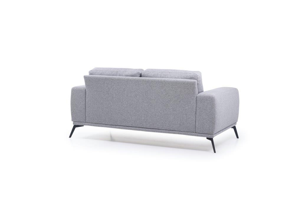 FLOW 2-seater (TROY 3 grey) back softnord soft nord scandinavian style furniture modern interior design sofa bed chair pouf upholstery